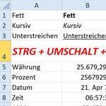 Die besten Tastenkombinationen zum Formatieren in Excel