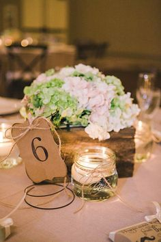 I Like The Floating Candle In Ball Jar Inspired By This Pink Ivory Vintage Barn Wedding