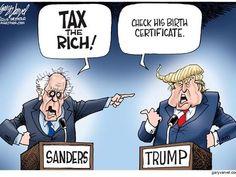 Cartoonist Gary Varvel: Imagine a Bernie Sanders/Trump debate