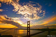 Sun rise over the bridge