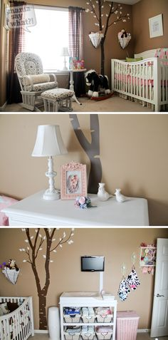 SO cute, incorporates boy and girl. Birdie nursery for twins!
