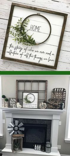 "Beautiful shiplap wreath ""HOME"" sign. Would go great with farmhouse decor #farmhouse #farmhousestyle #afflink"