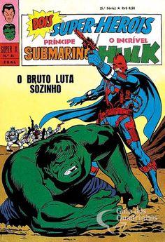 Príncipe Submarino e O Incrível Hulk (Super X) n° 36 - Ebal