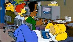 Físico en el capítulo 'Homer asiste a la universidad'
