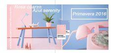 Rosa cuarzo y azul serenity, tendencias de primavera 2016