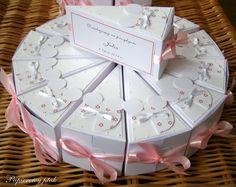 Ręcznie robione podziękowania dla gości - papierowy tort.  www.facebook.com/PapierowyPtak