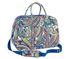 $69.99! VERA BRADLEY Grand Traveler MARINA PAISLEY Luggage Travel Carry On Tote Bag $120 #VeraBradley #TotesShoppers #Nautical