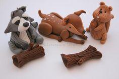 The Extraordinary Art of Cake: Buttercream Bakery Woodland Animal Cake Toppers Set