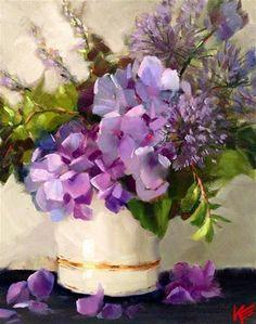 Hydrangeas - Original Fine Art for Sale - © Krista Eaton (ABSOLUTELY GORGEOUS!!!!)