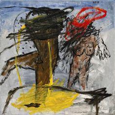 "Iabadiou Piko; Acrylic 2013 Painting ""Posing No. 06"""
