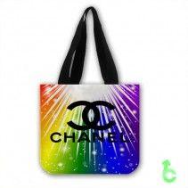 Chanel bright down color Tote Bags