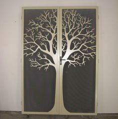 Unique handmade steel doors - Round Tree Double Doors