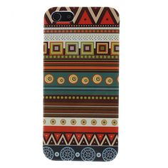 Brown Tones Ethnic Pattern Hard Case for iPhone 5/5S – USD $ 2.99