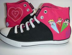 These Power Puff Girls Custom Converse were one of my favorites to make. Need a little Superhero, Girl Power in your life or for someone you know?