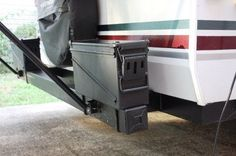 Ammo cans mounted on the rear bumper add additional storage.