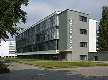 BAHAUS SCHOOL - a school in Germany that combined crafts and the fine arts; famous for its approach to design (The Twenties, Thirties, and WWII)