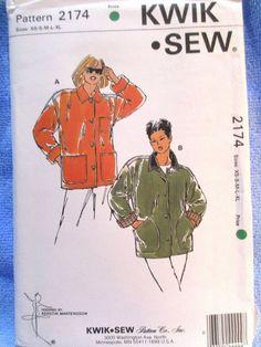 Kwik Sew Pattern 2174 Misses Jackets XS S M L XL #KwikSew