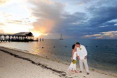 Sunset Key beach wedding in the Florida Keys by blueyeimages.com