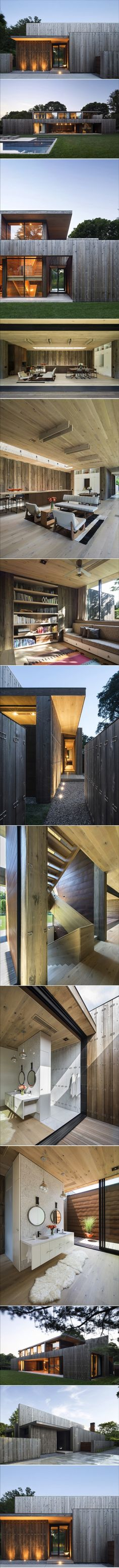 Timber clad beauty in Long Island, New York - Designhunter - Sustainable Architecture with Warmth & Texture