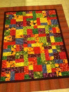 Fruit and veggie quilt