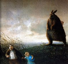 """Three postcards from Edition Inkognito: """"Frohe Ostern"""" by Michael Sowa, perhaps the most frightening Easter postcard of all time. """"Katzenversammlung"""" by Quint Buchholz """"Katze/Armbinde"""" by Michael Sowa Michael Sowa, Lapin Art, Wilhelm Busch, Es Der Clown, Bunny Art, Claude Monet, Whimsical Art, Happy Easter, Easter Bunny"""