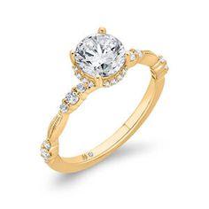Bella Ponte Diamond Engagement Ring Setting 14K - BX0097E-44-1.00 | Ben Bridge Jeweler Perfect Engagement Ring, Engagement Ring Settings, Diamond Engagement Rings, Ring Size Guide, Classic Elegance, Beautiful Rings, Ben Bridge, Jewels, Pure Products