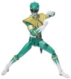 "Amazon.com: Bandai Tamashii Nations Mighty Morphin Green Ranger ""Mighty Morphin Power Rangers"" S.H. Figuarts Action Figure: Toys & Games"