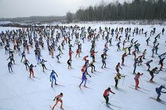 The American Birkebeiner ski marathon in Cable, Wisconsin. Gah! I need to do this again!