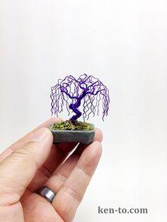 Purple willow wire bonsai tree by Ken To by KenToArt.deviantart.com on @deviantART