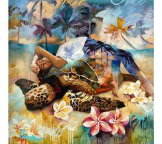 """""""Qu'elle pose à l'ombre des palmiers, elle se repose dans la connaissance de son voyage. Paix et assurance sans soucis du monde extérieur, elle pond dans un sommeil sans fin de radiance, de joie et de contentement"""