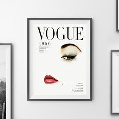 VOGUE Cover Printable Fashion Print Vogue Wall Art by printabold