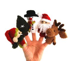 christmas puppets snowman reindeer elf Saint Nicholas by crochAndi, $40.00