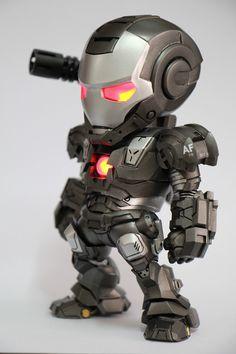 "Customized by Pop PM (soil361) | Moya Creation's ""Minikiin Series 02 Iron Baby War Machine"" garage kit."