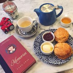 """A pot of hot #tea, freshly baked #scones & a good #book to read ☕️  doubt there's anything better to do on a #sundayafternoon   #teatime #englishtea…"" - Thanks to athalietoh via instagram"