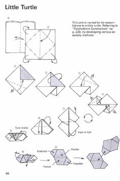 Tomoko Fuse Little Turtle unit diagram. Hard to find!