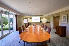 One of the many meeting rooms at The Vineyard. The bright and airy Atrium suite is a fantastic space for #meetings in #Berkshire.