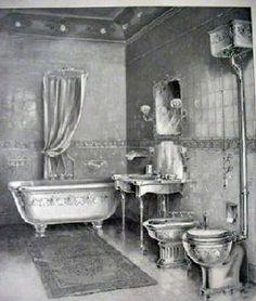 New vintage interior victorian 36 Ideas Victorian Toilet, Victorian Rooms, Victorian Home Decor, Folk Victorian, Victorian Bathroom, Victorian Interiors, Victorian Design, Vintage Bathrooms, Vintage Interiors