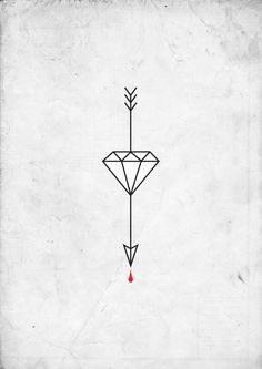 arrow tattoo maybe with a heart instead of a diamond Diamond Tattoos, Diamond Tattoo Meaning, Small Diamond Tattoo, Diamond Tattoo Designs, Diamond Design, Arrow Tattoos, Leg Tattoos, Sleeve Tattoos, Future Tattoos