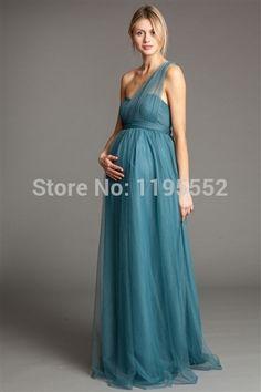 Royal Blue Textured Lace Maternity Dress Portemonnees