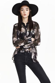 Szyfonowa koszula | H&M