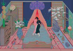 Korean Illustrator Ram Han's Alice In Wonderland Dreamscape Art And Illustration, Illustrations Posters, Kunst Inspo, Art Inspo, Cartoon Kunst, Cartoon Art, Art Sketches, Art Drawings, Baby Gallery