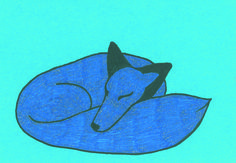 Ice fox sleeping