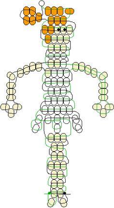 Wilma Flinstone pony beads pattern
