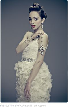 Maria Elena Headpieces and Jewelery at Chic Parisien http://shop.cpbride.com/
