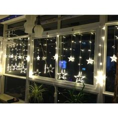 Fairy String Light Waterproof Curtain Outdoor Christmas Decoration 138 Star LED Outdoor Fairy Lights, Outdoor Curtains, Outdoor Christmas Decorations, Chandelier, Ceiling Lights, Led, Star, Lighting, Home Decor