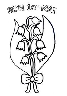 Coloriage muguet dessiné par nounoudunord