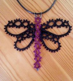Tatted Dragonfly Necklace