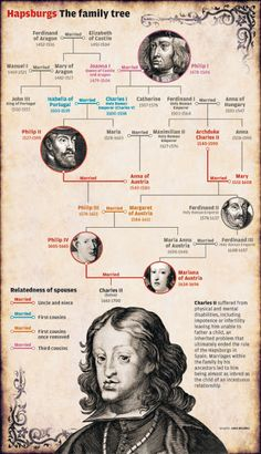 The History Notes: Genealogy Odd but strangely fascinating:  Charles II of Spain's family tree - he was perhaps the most inbred human being to have ever lived.