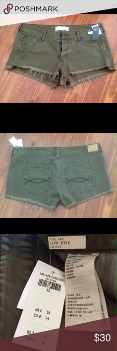 NWT Abercrombie & Fitch cut off short. NWT Abercrombie & Fitch cut off short, very cute , light weight, super comfy, honestly I love it , just too big for me right now . Abercrombie & Fitch Shorts