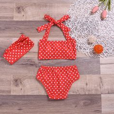 The 80's Girl Polka Dot Swimsuit With Matching Headband from kidspetite.com!  Adorable & affordable baby, toddler & kids clothing. Shop from one of the best providers of children apparel at Kids Petite. FREE Worldwide Shipping to over 230+ countries ✈️  www.kidspetite.com  #girl #newborn #infant #swimwear #baby #beach #swimsuit #swim Bathing Suits One Piece, Girls Bathing Suits, Two Piece Swimwear, Swimwear Cover Ups, Baby Swimwear, Baby Girl Swimsuit, Baby Girl One Pieces, Summer Girls, Hair Band